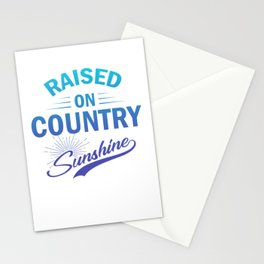 Raised On Country Sunshine pb Stationery Cards