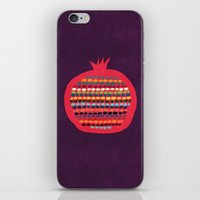 pomegranate iPhone & iPod Skins featuring Pomegranate by Picomodi