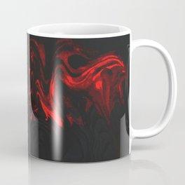 Red and Black Halloween Decor Fluid Abstract 47 Coffee Mug