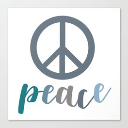 Peace- The symbol of peace Canvas Print