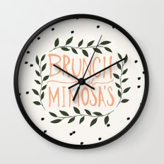 Brunch and mimosas Wall Clock