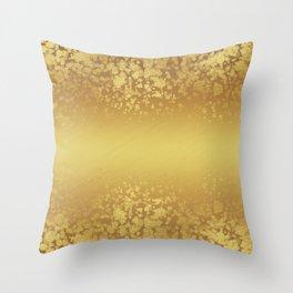 Chic Stylish Elegant Gold Glitter Confetti Throw Pillow