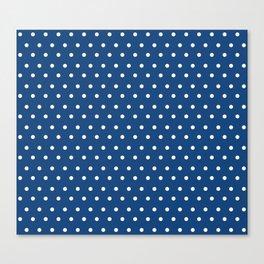 Polka Dots Blue #retro #vintage #60s #50s #minimal #art #design #kirovair #buyart #decor #home Canvas Print