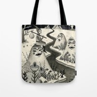 chad wys Tote Bags featuring Weary Vagabond  by Jon MacNair