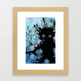 Sea Monster Blues Framed Art Print