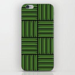 Green metallic pattern iPhone Skin