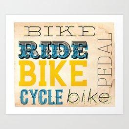 Bike Type poster Art Print