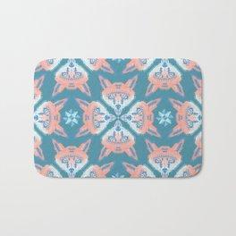 Pastel Fox Pattern Bath Mat