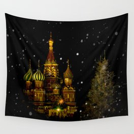 Moscow Night Wall Tapestry