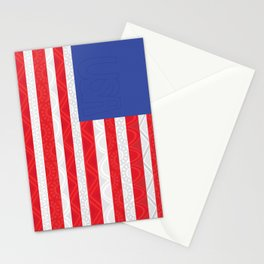 Zentangle American Flag by Gabrielle Healy Stationery Cards
