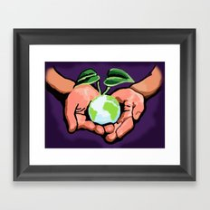 Care For Environment Framed Art Print