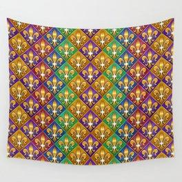Harlequin Fleur di Lis Diamonds Wall Tapestry