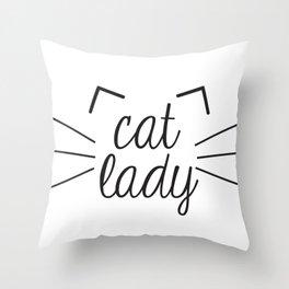 Cat Lady Throw Pillow