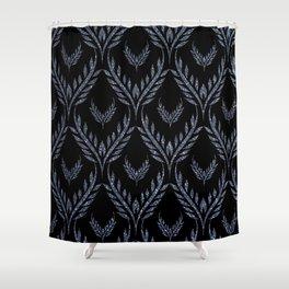 Petal Wings-Grayblue&Black Shower Curtain