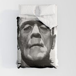 Frankenstein 1933 classic icon image, flawless, timeless horror movie classic Comforters