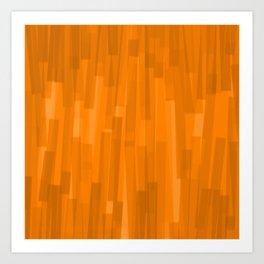 Geometric Brown Painting Art Print