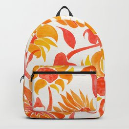 Sunflower Watercolor – Fiery Palette Backpack