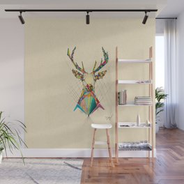 Illustrated Antelope Wall Mural