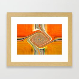 Abstract.Orange+Lemon. Framed Art Print