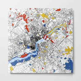 philadephia map Metal Print