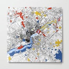 philadephia map Metal Print