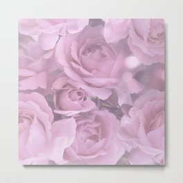 Pink Rose Bouquet Romantic Atmosphere #decor #society6 #buyart Metal Print