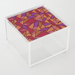 Red puzzle Acrylic Box