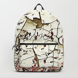 Cracked Paint White Textured Abstract Backpack
