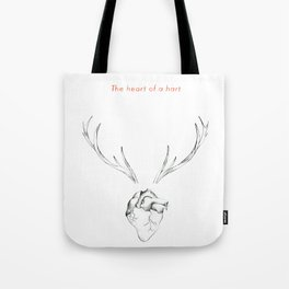 The Heart of a Hart Tote Bag