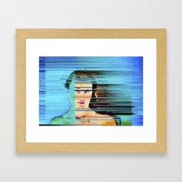 Pixel Push Series: Bridget 4 Framed Art Print