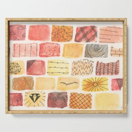 Mini Swatch Ink Sketches Serving Tray
