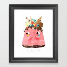 Ice Cream Cake: Too cute too eat! Framed Art Print
