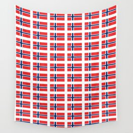 flag of norway,snow,scandinavia,scandinavian, norwegian,oslo Wall Tapestry