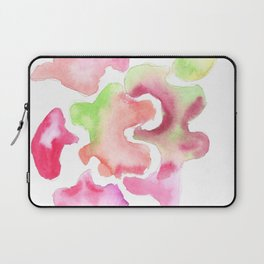 170527 Back to Basic Pastel Watercolour 18 | Abstract Shapes Drawing | Abstract Shapes Art Laptop Sleeve