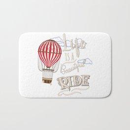 Retro Hot Air Balloon Balloonist Optimism Optimist Gift Bath Mat
