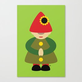 Gnome on Green Canvas Print