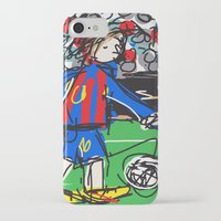 messi iPhone & iPod Cases featuring Messi by Rimadi