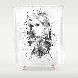 avril lavigne desain 003 Shower Curtain