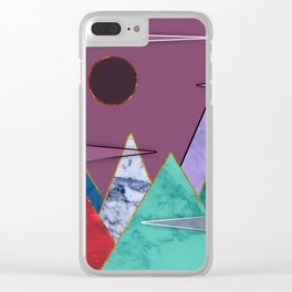 Abstract #405 Clear iPhone Case