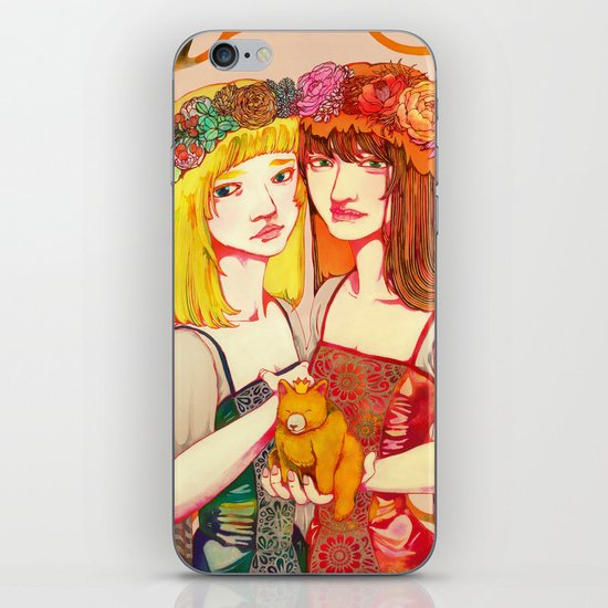 Snow White and Rose Red iPhone Skin