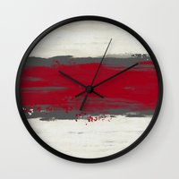 racing Wall Clocks featuring Racing Stripe by Eye Opening Design