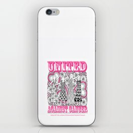United Against Cancer - Breast Cancer Awareness - Zentangle Women iPhone Skin