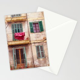 Mallorca house with balconies Stationery Cards