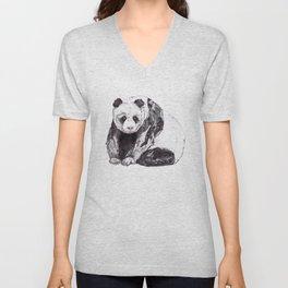 Panda Bear // Endangered Animals Unisex V-Neck