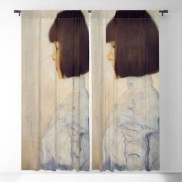 Gustav Klimt - Portrait of Helene Klimt Blackout Curtain