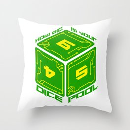 D6 Dice Pool Throw Pillow