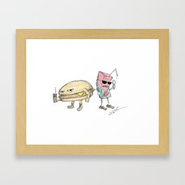Cheeseburger & Apple Juice Framed Art Print