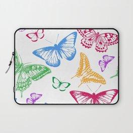 Colorful Rainbow Butterflies Laptop Sleeve