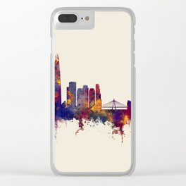 Seoul Skyline South Korea Clear iPhone Case