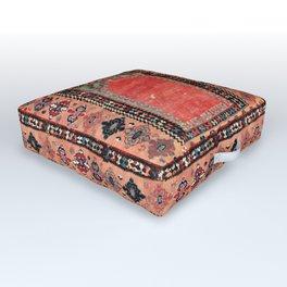 Sivas  Antique Cappadocian Turkish Niche Kilim Print Outdoor Floor Cushion